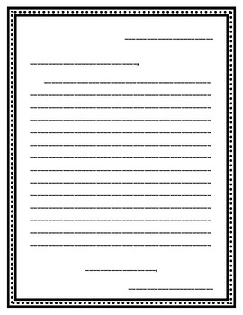 Student Generated Welcome to Open House Letter Template