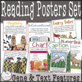 Genre and Text Features Mini Flip Books & Classroom Posters COMBINED Set