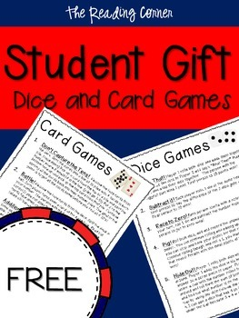 Student Gift Dice and Card Games