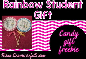 Student Gift Rainbow Tag Freebie!