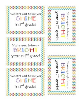 Chevron Student Gift- Shine in 2nd grade