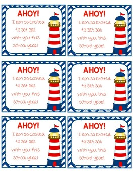 Student Gift Tag - Ahoy!