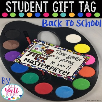 Student Gift Tag: Back to School Paint
