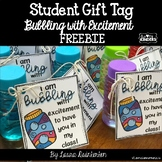 Student Gift Tag Bubbling with Excitement