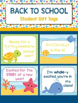 Student Gift Tag - Ocean Theme