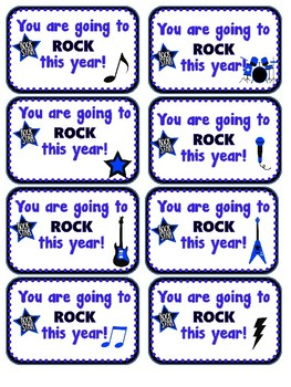 Student Gift Tag- Rock this year!