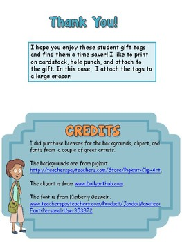 Student Gift Tag- Tickled Pink to Meet You!