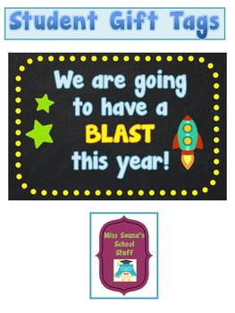 Student Gift Tag- We're going to have a blast this year!