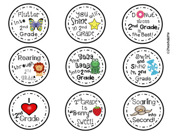 Student Gift Tags-2nd Grade Edition