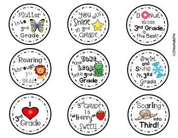 Student Gift Tags-3rd Grade Edition
