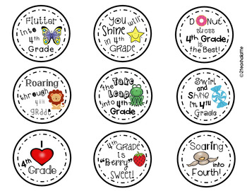 Student Gift Tags-4th Grade Edition