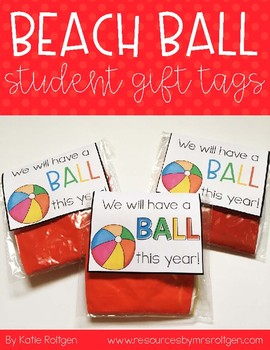 Student Gift Tags (Beach Ball)