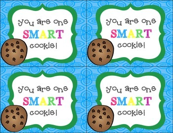 "Student Gift Tags (""You Are One SMART Cookie!"")"
