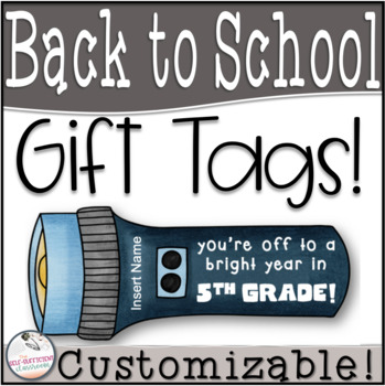 Student Gift Tags- You're Off to a Bright Year...EDITABLE!