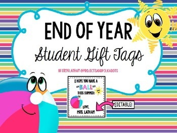 End of Year Tags for Beach Ball
