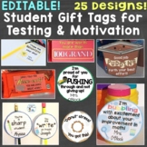 Student Gift Tags for Testing, Motivation, Rewards, Growth Mindset