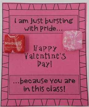 Student Gift Tags for Valentine's Day
