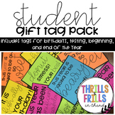 Student Gift  (snack pack) Snack labels