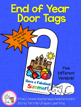 End of the Year Student Gifts- Door Signs