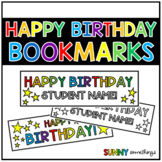 Student Gifts: Happy Birthday Bookmarks