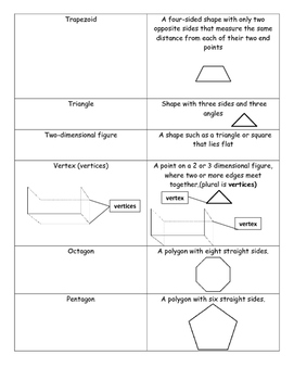 Student Glossary for Geometry