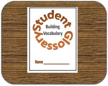 Free Student Glossary for Vocabulary Building