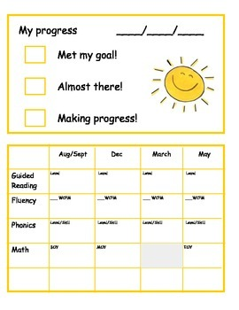 Student Goal Card