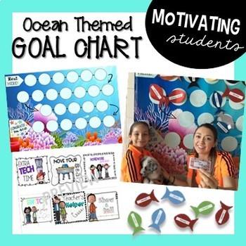 Student Goal Chart (Ocean Themed)
