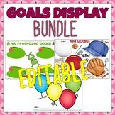 Student Goal Display BUNDLE! Editable - Sport, Frog AND Ba