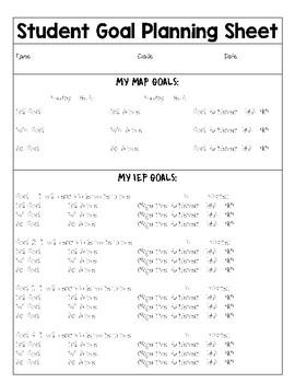 Student Goal Planning Sheet