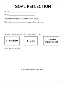 Student Goal Reflection