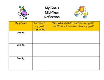 Student Goal Reflection Sheet