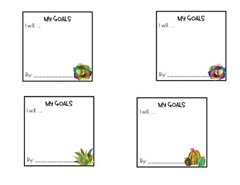 Student Goal Setting Cards