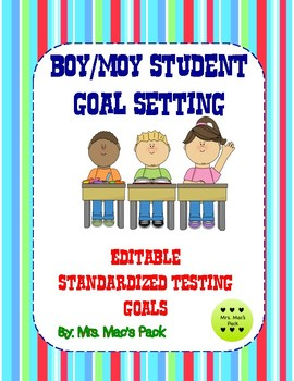 NWEA Student Goal Setting *Editable*- Math/Reading BOY & MOY