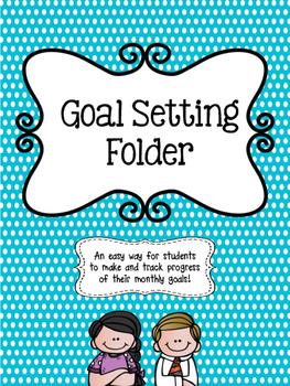 Student Goal Setting Folder