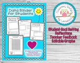 Student Goal Setting Notebook/ Data Tracking Binder- Editable Graph!