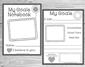 Student Goal Setting Notebook/ Data Tracking Binder- Editable Graph!