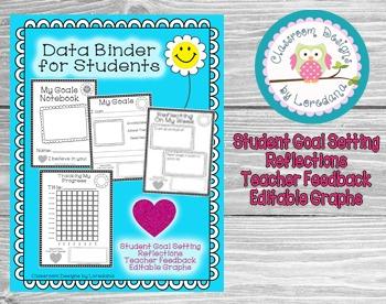 Student Goal Setting Notebook/ Data Tracking Binder- Edita