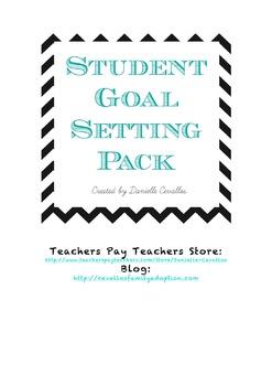 Student Goal Setting Pack