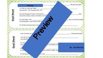Student Goal Setting Sheet