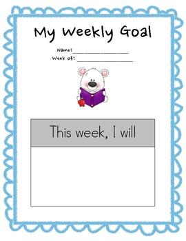 Student Goal Setting Sheets