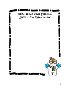 Student Goal-Setting Sheets Winter Theme