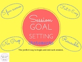FREEBIE Student Goal Setting Speech Language Teletherapy First Week Speech