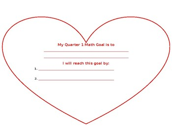 Student Goal Setting Template