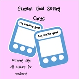 Student Goal Setting Tracker Cards!!