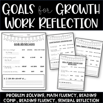Student Goal Setting Work Sample Reflection