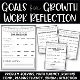 Student Work Self-Reflection Sheet (Goal Setting)