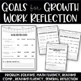 Student Work Self-Reflection Sheet (Goal Setting)