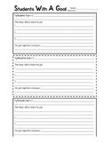 Student Goal-Setting Worksheet