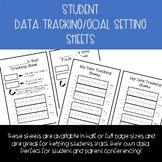 Student Goal Setting and Data Tracking Sheets